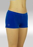 Gymnastikkbukser P758bl Glatt velur blå